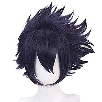 Cfalaicos Blue Short Layered Tamaki Amajiki Cosplay Wig