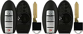 KeylessOption Smart Key Keyless Entry Remote Fob Shell Cover For Infiniti G37 Nissan Altima Maxima Murano KR55WK48903 (Pack of 2)