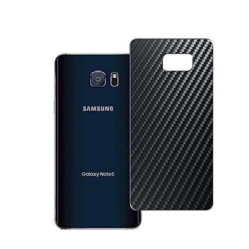 Vaxson 2 Unidades Protector de pantalla Posterior, compatible con Samsung Galaxy Note5 Note 5, Película Protectora Espalda Skin Cover - Fibra de Carbono Negro