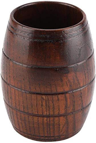 hwljxn Hölzerne Bierbecher - Natürliche hölzerne Bierschale Retro Große Kapazität Tee Milchsaft Klassische Holz Trinken Becher Tassen