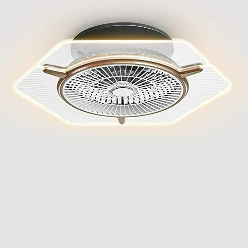 LED Deckenventilator - Deckenventilator mit Beleuchtung & Fernbedienung,48W Deckenleuchte Modern,Ultra-Leise Deckenventilator Mit Beleuchtung für Schlafzimmer Wohnzimmer Esszimmer