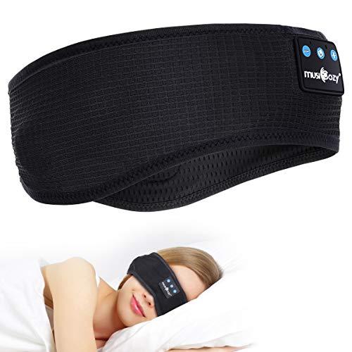 Auriculares Bluetooth V5.0, inalámbricos, deportivos, para dormir, música, estéreo, altavoces HD, perfectos para deportes, para dormir de lado, viajes en avión, meditación y relajación