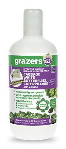 Grazers ltd GRAZERS G3 effectief tegen schade door kool witte vlinder, rups, bladluis en andere sapzuigers 350ml concentraat (maakt 7 liter klaar voor gebruik spuit), nylon/A