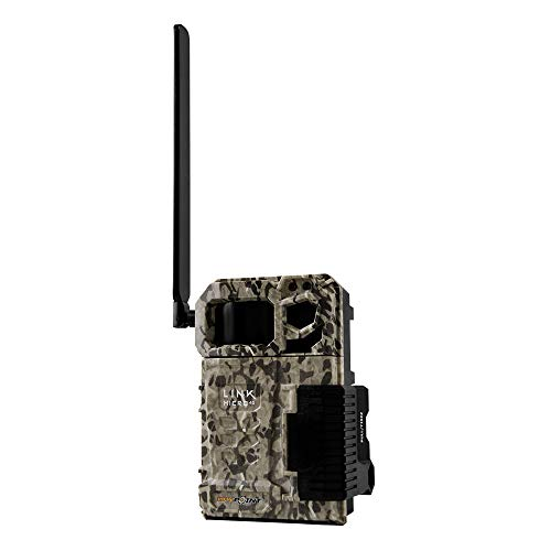 SPYPOINT Link-Micro-V Cellular MMS Trail Camera 4G/LTE (VERIZON) HD Video with SB-300 Lock Box and Free 2 Year Warranty Deluxe Trail Cam Package (4G Camera, Steel Lock Box)