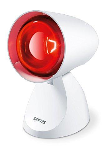 Sanitas SIL 06 Infrarotlampe, wohltuende Wärme zur Unterstützung des Heilungsprozesses 614, Weiß, 100 W