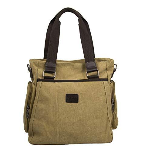 Airel Messenger Bag | Satchel Bag | Umhängetasche | Businesstasche | Schultertasche Stoff | Klein Schultertasche Massnahmen: 32x31x14 cm