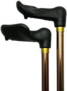 Unisex Adjustable Palm Grip Cane Bronze Right Hand -Affordable Gift! Item #DHAR-9051103