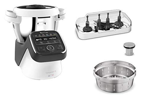 Moulinex Companion XLRobot Cuiseur 4.5 L 12 Programmes Automatiques Préparation de Soupes, Viande, Gaspacho, Risotto, Robot Cuisine Avec Livre Recettes Inclus Fabriquéen France HF80C800