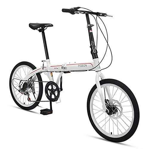 ZXQZ Bicicleta, Bicicletas Plegables, Bicicleta de Un Solo Engranaje de 20 Pulgadas Y 6 Velocidades para Estudiantes Adultos (Color : Black)