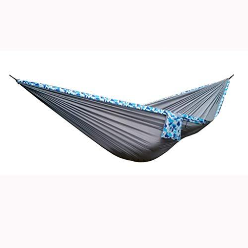 Kyman Resistente al Desgaste Hamaca al Aire Libre 275 * 160 cm Hamaca Grande oscilación Silla de la Hamaca Fuerte Influencia Durable Seguridad (Color: Azul) (Color : Gray)