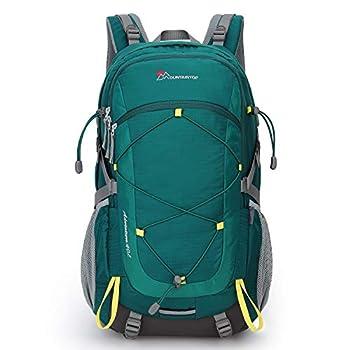 MOUNTAINTOP 40L Sac à Dos de randonée Trekking Camping Voyage pour Homme Femme Alpinisme en Plein air (Turquoise Vert)