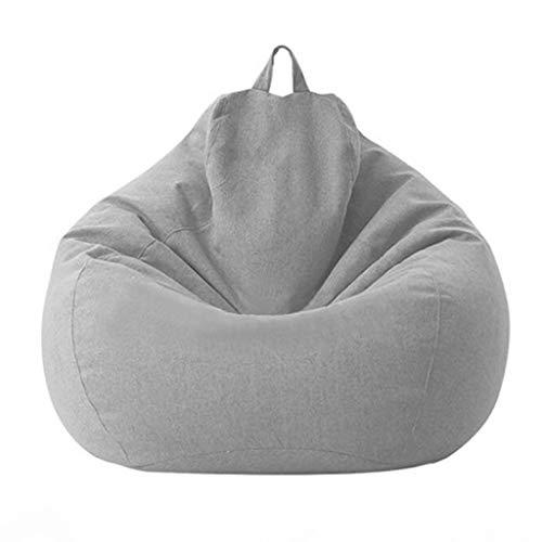 JJZXD Erwachsene Kinder Große Sitzsack Stuhl Sofa Couch Cover Indoor Lazy Lounger Keine Füllung Puff Couch Stühle Tatami Wohnzimmer Möbel (Color : Gray, Size : 80)