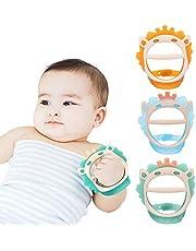 Juguetes para la dentición del bebé para 0-6 y 6-12 meses Mordedores 3 paquetes para bebés, sin BPA, silicona no tóxica, ecológica, muñequera ajustable, mordedores naturales para bebés