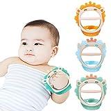 Baby Beißspielzeug für 0-6 und 6-12 Monate Beißringe 3er Pack für Kleinkinder, BPA-freies, umweltfreundliches ungiftiges Silikon, verstellbares Armband Kauen Natürliche Beißringe für Babys