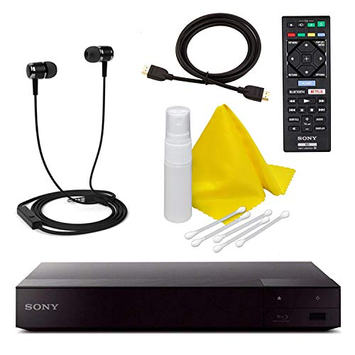Sony BDP-S3700 Blu-Ray Disc Player with Built-in Wi-Fi + Remote Control + High-Speed HDMI Cable W/Ethernet - Netflix, YouTube, , Pandora, , Playstation Now, Crackle