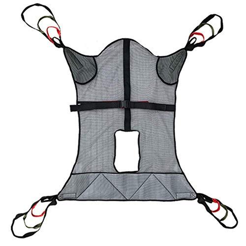 Z-SEAT Ganzkörper-Mesh-Toilettenschlinge mit Kommodenöffnung mit Vierpunktunterstützung für Patientenlifte für Bariatrie, Krankenpflege, Pflegekraft, ältere Menschen, Behin