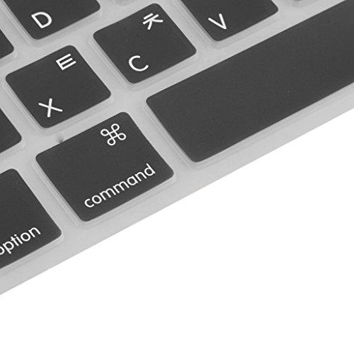 Gazechimp Silikon Fall English/Koreanisch Tastatur Abdeckung Schutzhülle für Macbook Pro 13/15
