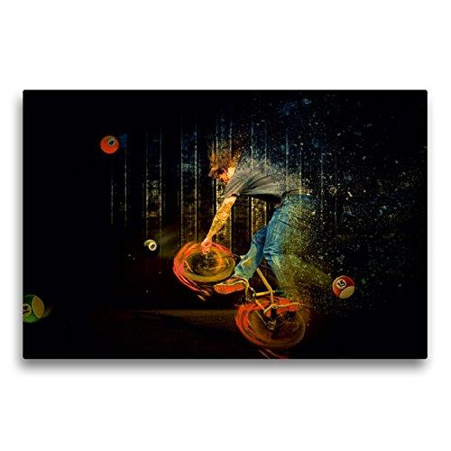 """Premium Textil-Leinwand 75 x 50 cm Quer-Format BMX My Life\""""Billard\""""   Wandbild, HD-Bild auf Keilrahmen, Fertigbild auf hochwertigem Vlies, Leinwanddruck von Dirk Meutzner"""