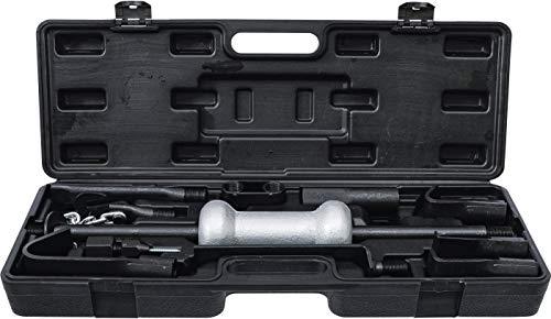 Kraftmann 1674 | Juego de piezas para abolladuras | con martillo deslizante | 11 piezas