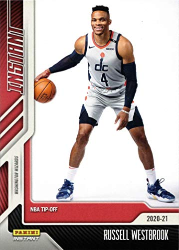 2020-21 Panini Instant #19 Russell Westbrook Basketball Card - 1st Official Washington Wizards Card - Only 617 made!