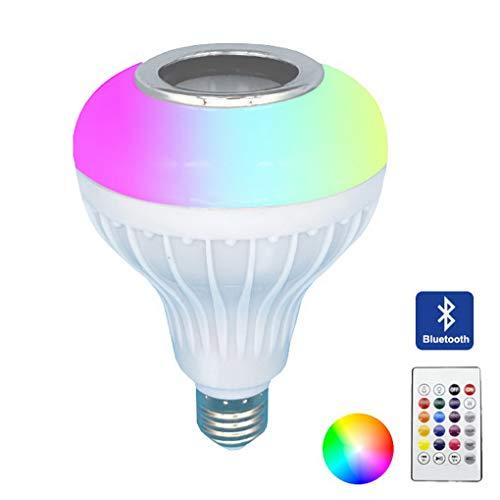 LED RGB Lampe, dimmbare 12W E27 RGB Musik farbwechsel Glühbirne mit APP | dimmbar mehrfarbige Leuchtmittel für Haus Dekoration, Bar, Party, KTV Bühne, Feiertag, Bettlampe