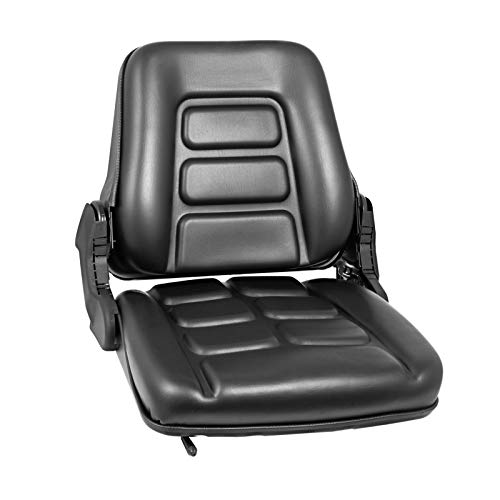 Bestauto Universal Forklift Seat Folding Replacement, Fulll Suspension Seat With 180° Adjustable Backrest Angle, Fits Most Heavy Mechanical Seat