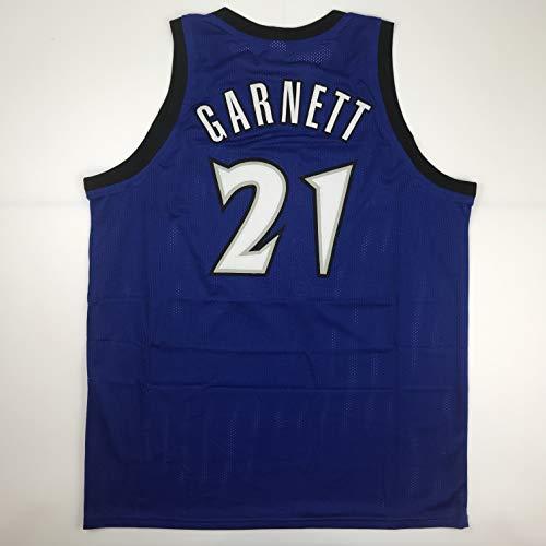 Unsigned Kevin Garnett Minnesota Blue Custom Stitched Basketball Jersey Size Men's XL New No Brands/Logos