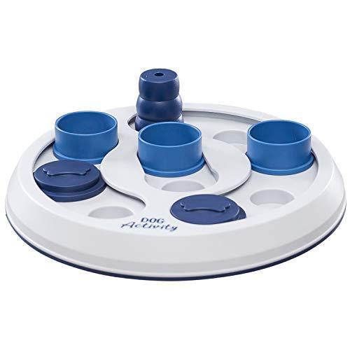Flip & Fun Dog Activity Strategiespiel Level 2 Leckerli-Spender weiß mit blau