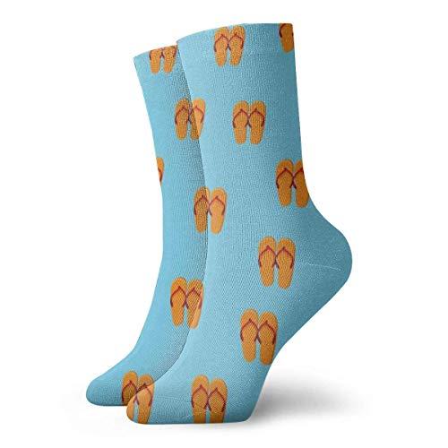 Kevin-Shop Chaussettes pour Hommes et Femmes - Tongs d'été Chaussettes colorées pour Hommes