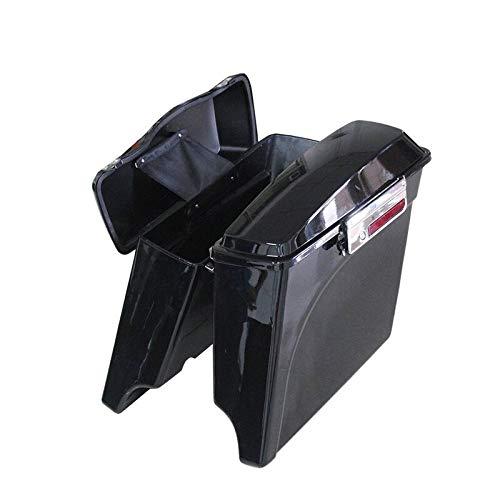 Bolso de la Motocicleta Estirada Extended Duro Alforjas Bolsa de sillín del Tronco for Harley Touring Road King Electra Glide Ultra ABS 94-13