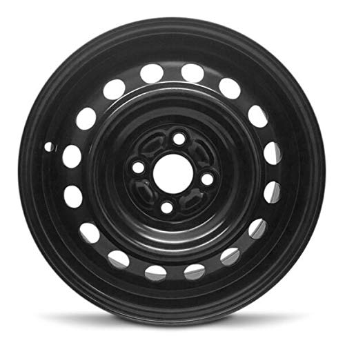 Road Ready Car Wheel for 2004-2006 Scion XA 15 Inch Black 4 Lug Steel Rim Fits R15 Tire - Exact OEM Replacement - Full-Size Spare
