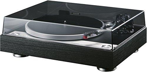 Onkyo CP-1050(D) HiFi-Plattenspieler (Direktantrieb, 33/45rpm, abnehmbarer MM Tonabnehmer, vergoldete Cinch-Phonoausgänge, schwingungsdämpfendes Schallplattenspieler MDF-Gehäuse), Schwarz