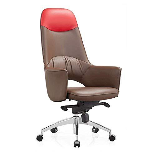 AYHa Schreibtischstühle , Ergonomischer Bürostuhl Drehstuhl Rollstuhl Executive Stuhl Hochlehner Hotel Sessellift Drehbarer Chefstuhl Brauner Computertischstuhl, B,C