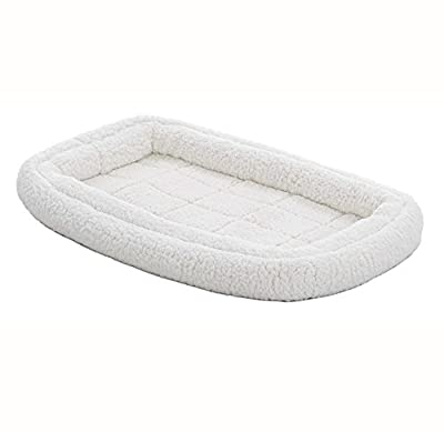 Double Bolster Pet Bed | 22-Inch Dog Bed ideal for XS Dog Breeds & fits 22-Inch Long Dog Crates