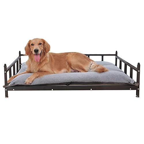 Hundebett Übergroßes Erhöhtes Hundebett, Metall-Haustierbett/Lounge-Sofa, Verstellbare Füße und Einfach zu Installierender Rahmen, Perfekt für Drinnen und Draußen