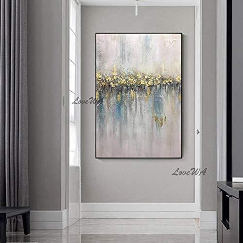 ZNYB Cuadros para Salon Modernos Arte de Pared Pintado a Mano Pintura al óleo decoración del hogar Abstracto sobre Lienzo Obra de Arte Pintada a Mano para habitación sin Marco
