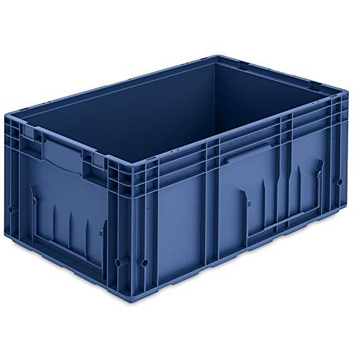 VDA-R-KLT 6429, 600 x 400 x 280 mm, Kleinladungsträger, Kunststoffbehälter, Lager- und Transportbox Industrie, 1 St, Blau