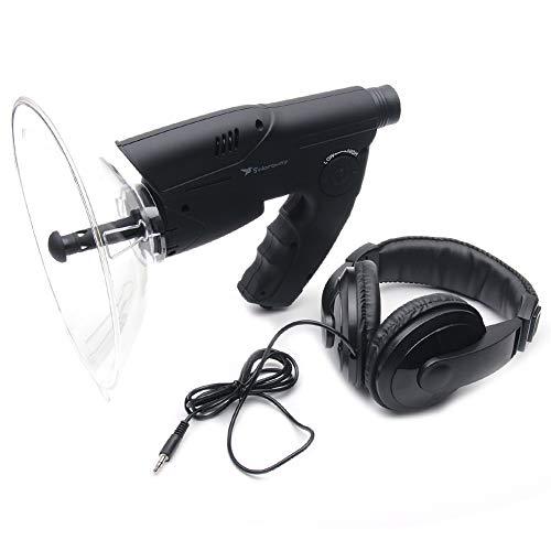 KKDWJ Micrófono Parabólico, X8 Monocular Bionic Oído Largo Alcance Aves Escucha Telescopio, el Sonido del Amplificador espía oído de Largo Alcance Dispositivo para telescopio de Escucha de pájaros