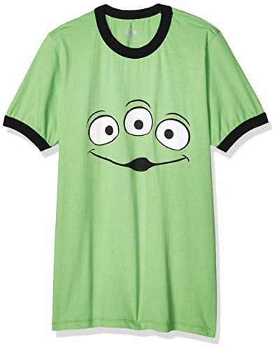 Toy Story Playera Basica Camisa Casual para Hombre, Color Verde, Chico