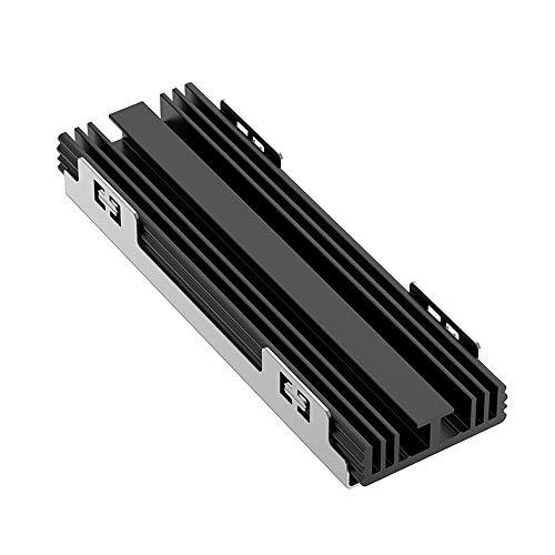 YLCOTC NVMe M.2 SSD disipador de calor de doble cara M2 disipador de calor de aluminio con almohadilla térmica de silicona para PCIE SATA M2 SSD 2280 PC de escritorio NGFF de enfriamiento (negro)