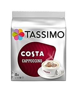 Costa Cappuccino de Tassimo, 2 unidades, 16 discos/8 porciones (32 discos/16 porciones en total)