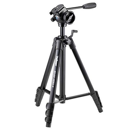 Velbon ビデオ用三脚 EX-547 VIDEO N 4段 レバーロック 脚径23mm 中型 フリュード雲台 DIN規格クイックシュ...