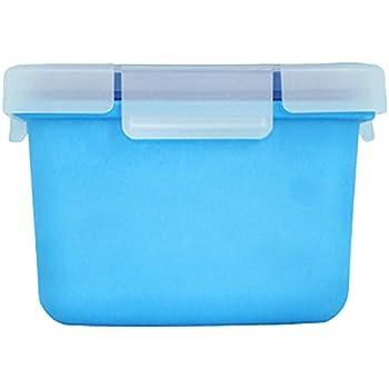 Valira Porta alimentos - Contenedor hermético de 0,4 L hecho en España, color azul: Amazon.es: Hogar
