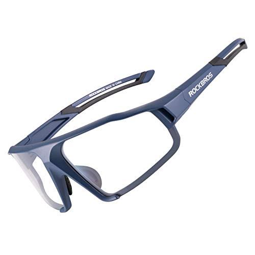 ROCKBROS Sportbrille Photochrome Sonnenbrille Fahrradbrille mit UV400 Schutz Radbrille für Outdoor-Aktivitäten wie Radfahren Autofahren Klettern Angeln Golf Unisex