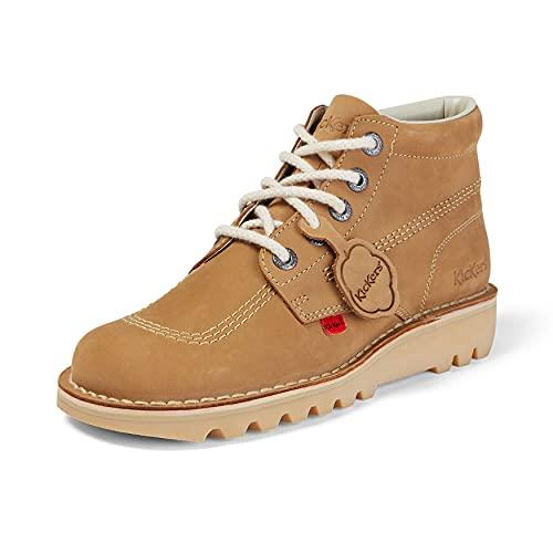 Kickers Men's Kick Hi Core Ankle Boots, Tan Light Cream, 7