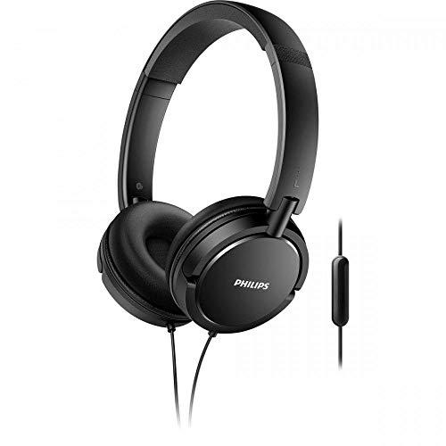 Philips SHL5005/00 On-Ear Kopfhörer mit Mikrofon schwarz
