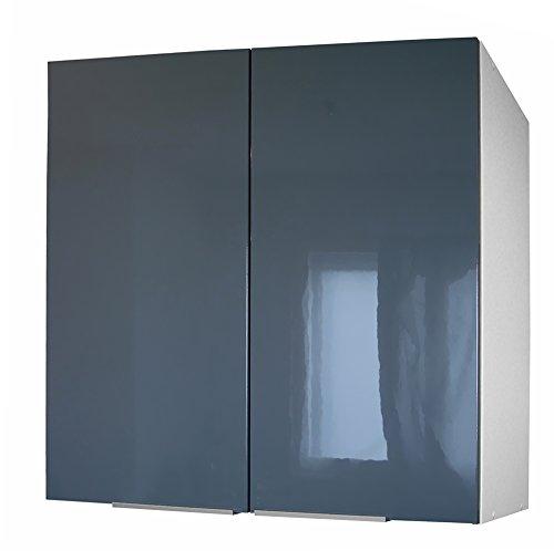 Berlenus CP8HG - Mueble de Cocina con 2 Puertas (80 cm), Color Gris Brillante