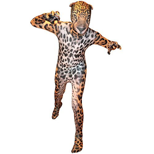 Morphsuits Jaguar Kids Animal Planet Costume - Size Large 4'-4'6 (120cm-137cm) (KLJAL)