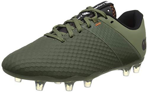 Canterbury Phoenix 3.0 Pro Firm Ground, Chaussure de Rugby Homme, Vert Lichen Foncé/Noir/Macareux...