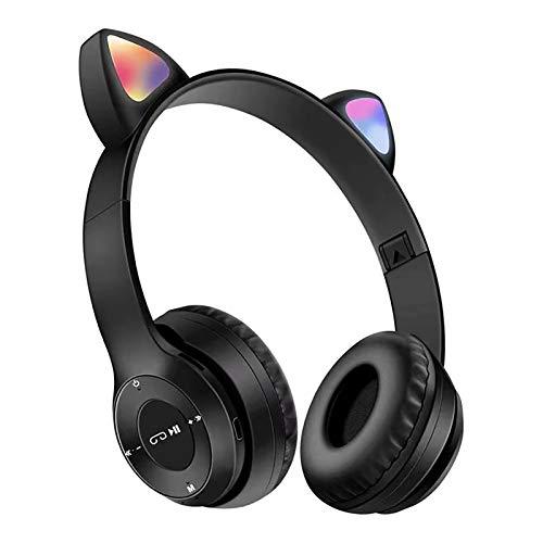 Auriculares inalámbricos con Bluetooth, Bluetooth 5.0, función estéreo MP3, gran capacidad con micrófono, se puede utilizar para teléfonos móviles, juegos de ordenador, música